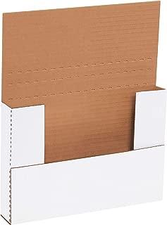 50-11 1//8 x 8 5//8 x 1 White Multi Depth Bookfold Mailer Book Box Bookfolds