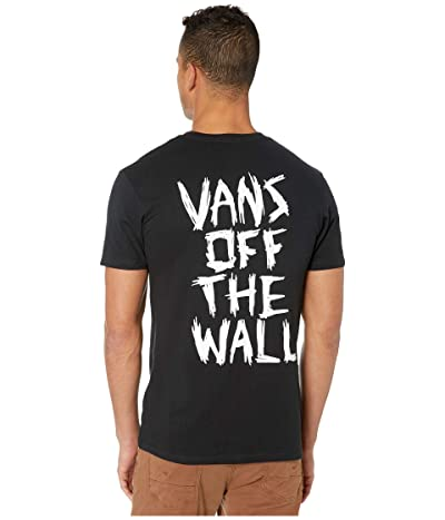 Vans Scratched Short Sleeve T-Shirt (Black) Men