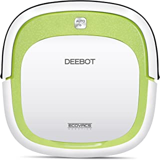 ECOVACS Deebot Slim Vacuum Floor Cleaning Robot for Bare Floor - Low-Profile Robotic Cleaner for pet, White/Green
