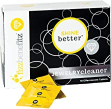 FizzBenefitz Shine Better Jewelry Cleaner - Restores Brightness to Gold, Diamond, Sterling Silver, Brass Jewelry and is The Perfect Solution for a Dirty Ring or Silverware - 10 Effervescent Tablets