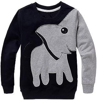 K-youth Sudadera para Niños Ropa Bebé Niña Elefante Impresión Camiseta de Manga Larga Ropa de Navidad Traje Sudadera Niños...