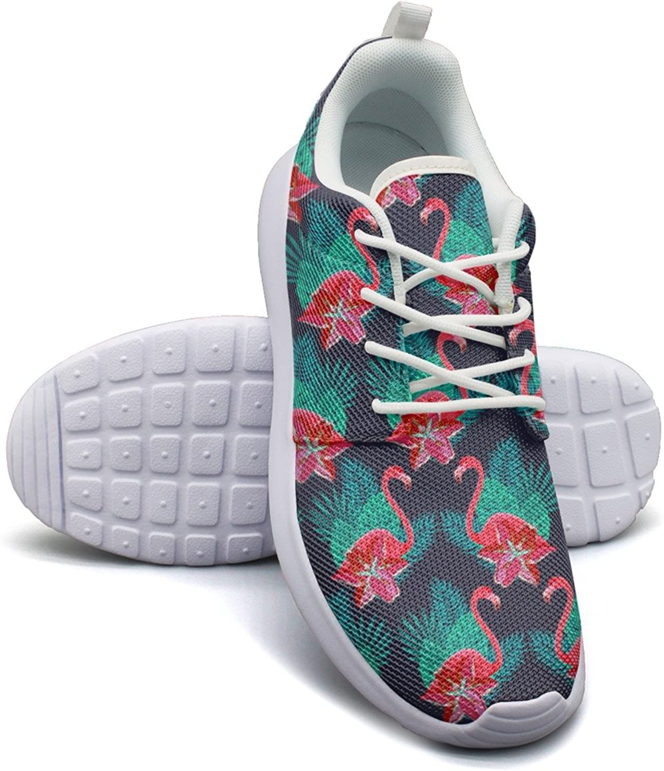 Eoyles gy Flamingo Lilies colorful Beautiful Women Slip Resistant Lightweight Running Sports shoes