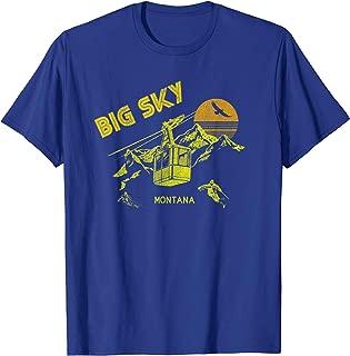 Big Sky Montana T-Shirt Distressed Retro Skiing Tee