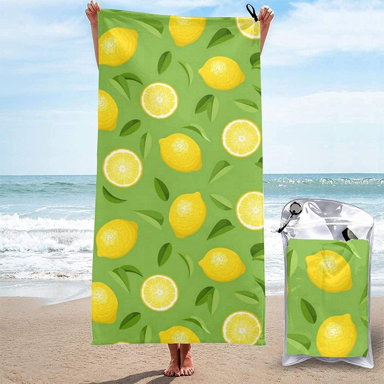 Lemon Yellow Microfiber Beach Limited time cheap sale Towel Women Max 86% OFF Men Absorbent Super
