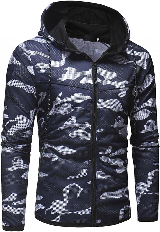 Hoodies for Men Men's Casual Slim Long-sleeve Camouflage Zip Up Hoodies Pullover Cardigan Fashion Hoodies And Sweatshirt