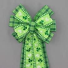 Shamrock Plaid St Patrick's Day Wreath Bow