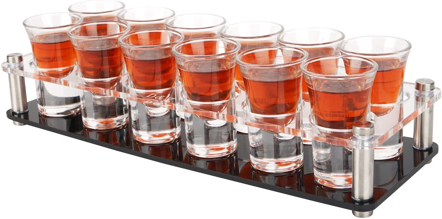 1 Ounce Shot Glass Set with Sales results No. for Tequil DZ Tray 12 Glasses free