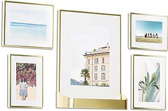 إطار صور لمعرض صور أومبرا ماتيني، 5 حزم، 4 × 6، 5 × 7، 8 × 10، عادي، نحاسي غير لامع