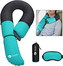 EEEKit Inflatable Travel Pillow, with Portable Carrying Bag, Ultra Compact and Modular for Airplane, Trains, Cars and Camping