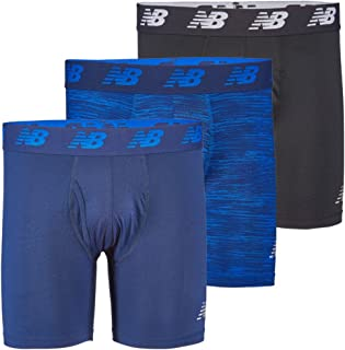 "New Balance Men's 6"" Boxer Brief Fly Front with Pouch, 3-Pack"