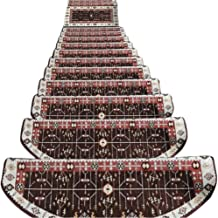 HAIPENG Anti Slip Stair Treads Carpet Pads Step Rugs Runner Mats Self Adhesive Staircase Ottomans, 4 Sizes, 2 Colors (Colo...