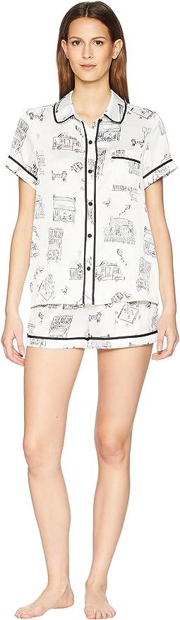 Main Street Satin Short Pajama Set
