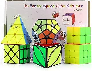D-FantiX Speed Cube Set, Cyclone Boys 2x2 3x3 Speed Cube Stickerless, Pyramid Cube, Qiyi Ivy Cube, Shengshou 2x2 Megaminx, Fisher Cube, Magic Cube Puzzles Toys  Set for Kids