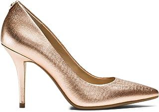Michael Kors Womens Antoinette Leather Closed Toe Classic Pumps