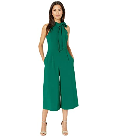 Vince Camuto Kors Crepe Bow Neck Cropped Jumpsuit (Green) Women