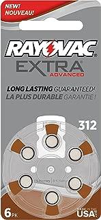 Rayovac Extra Advanced Mercury Free Hearing Aid Batteries Size 312 + Battery Holder Keychain Kit (40 Batteries)