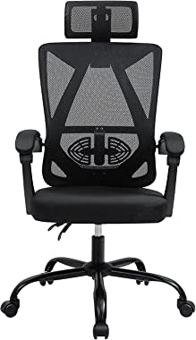 Office Chair PatioMage Ergonomic Home Office Desk Chair Mesh Office Chair with Adjustable Headrest Swivel Computer Chair Lumb
