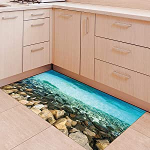 3d simulation shoal floor sticker