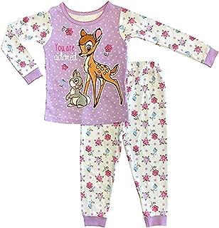 Disney Bambi & Thumper Baby Girls' 2pc Cotton Tight Fit Pajamas