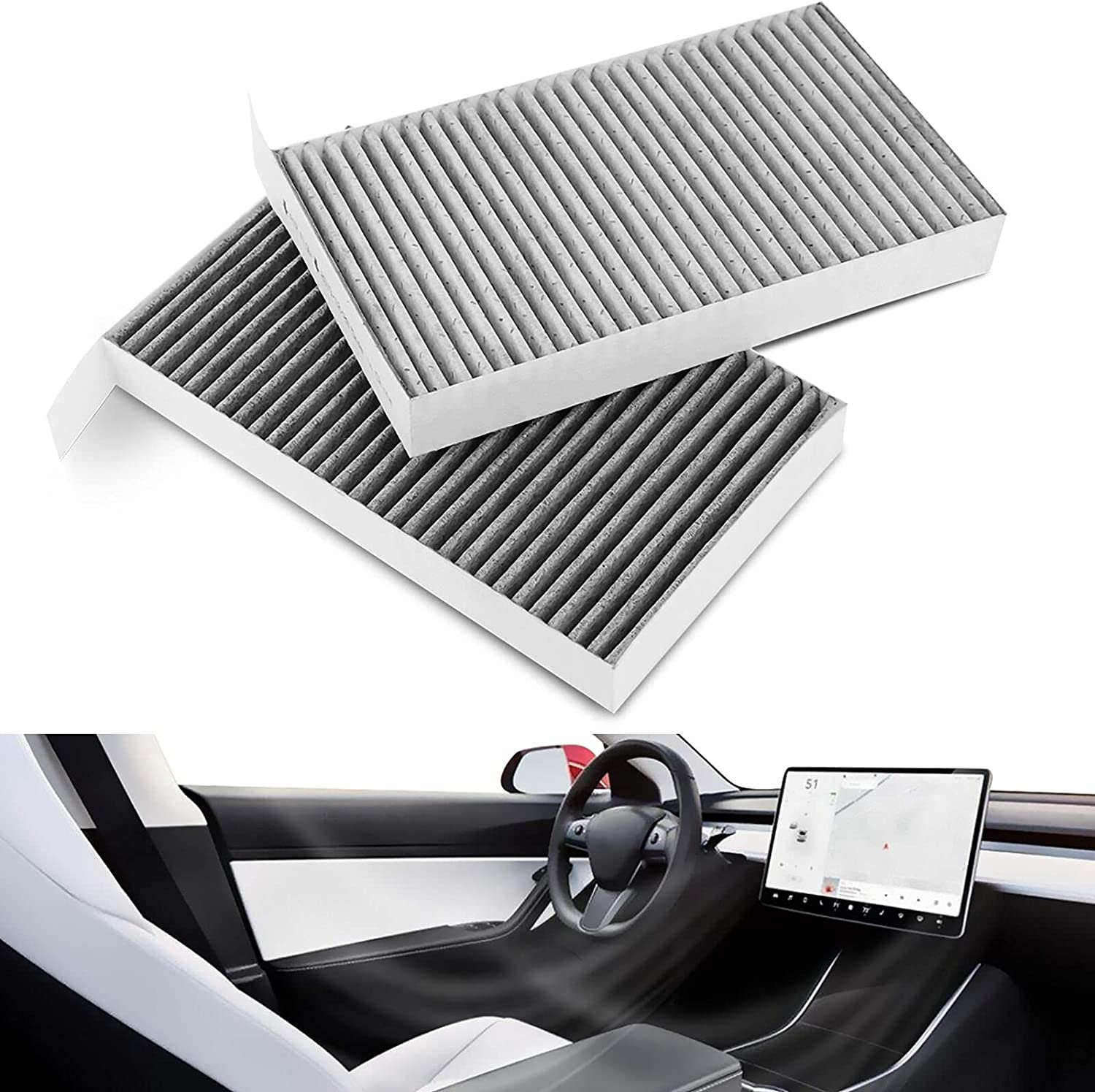 Farmogo Tesla Model famous 3 Y Milwaukee Mall Cabin Air Filter Activated Carbon