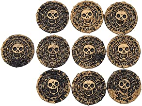Focalmotors 10PCS Pirates of The Caribbean Coin for Pirate Party Supplies