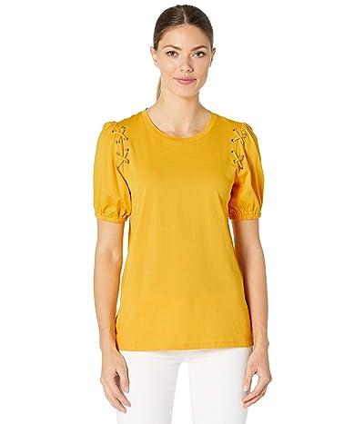 MICHAEL Michael Kors Lace-Up Grommet T-Shirt