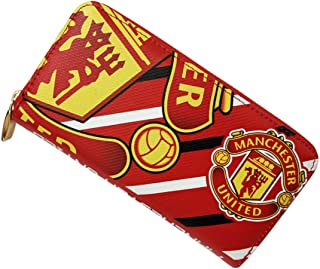 STER-TSP Manchester United Fc Wallet Soccer Club Unisex PU Zip Long Wallet