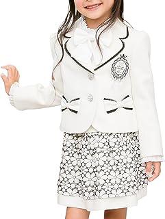 [アリサナ]arisana 入学式 女の子 スーツ 卒園式 子供服 フォーマル スカート エセル (ジャケット + スカート + ワッペン の 3点 セット)