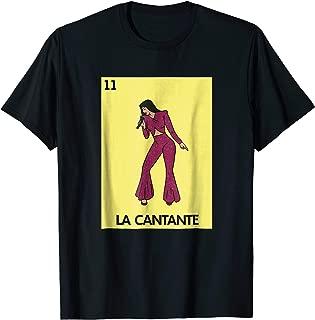 La Cantante Loteria Shirt - Mexican Loteria Tshirts