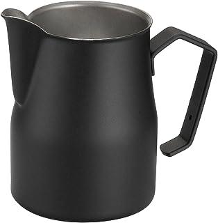 Motta Stainless Steel Professional Milk Pitcher/Jugs, 11.8 Fluid Ounce, Black