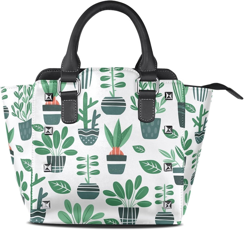 My Little Nest Women's Top Handle Satchel Handbag Plants Ladies PU Leather Shoulder Bag Crossbody Bag