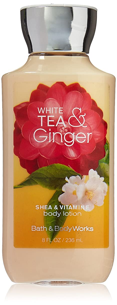 腹効率的に普及Bath & Body Works Shea & Vitamin E Lotion White Tea & Ginger by Bath & Body Works [並行輸入品]