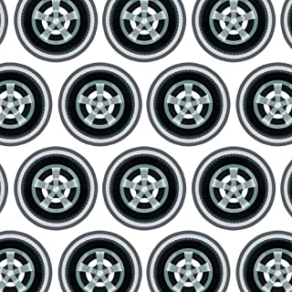 Premium Gift Wrap Wrapping Paper Roll Automotive Racing Number - Checkered Flag Racing