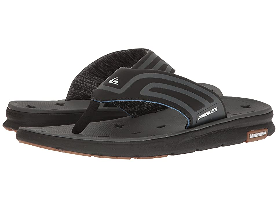 Quiksilver Amphibian Plus Sandal (Black/Black/Grey 2) Men's Sandals