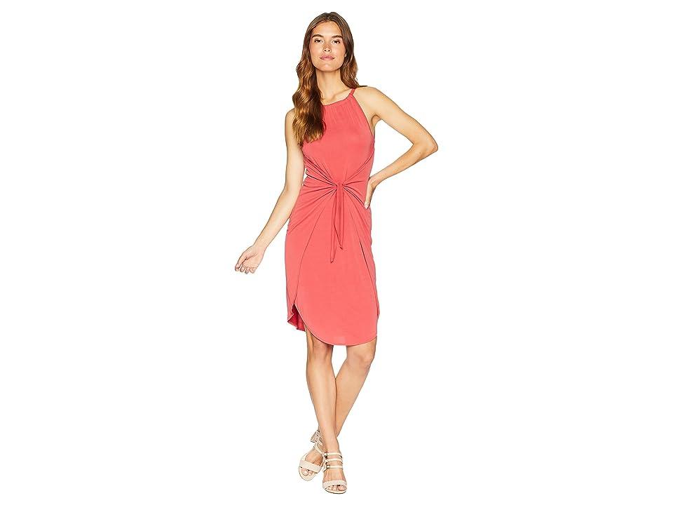 1.STATE Halter Neckline Tie Front Knit Dress (Spice) Women