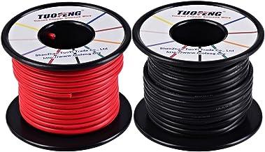 Fil d/électronique de calibre 30AWG Happyroom kit de fils color/és Fil de silicone flexible de 30 AWG Caoutchouc Silicone Fil de Cable R/ésistance /à hautes temp/ératures de fil isol/é 3000V 10M