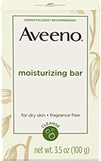 Aveeno Moisturizing Bar Soap with Colloidal Oatmeal for Dry Skin, Unscented