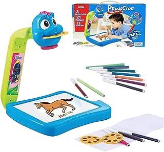 Kit de rastreo y Dibujo Juguete de Dibujo Juguete Educativo para ni/ños A//B Escritorio de proyector de Dibujo para ni/ños proyector de Pintura