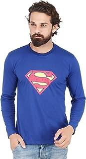 AKAAS Graphic Printed Full Sleeve Tshirt for Men, Superman Tshirt for Men, Superhero Justice League Tshirt