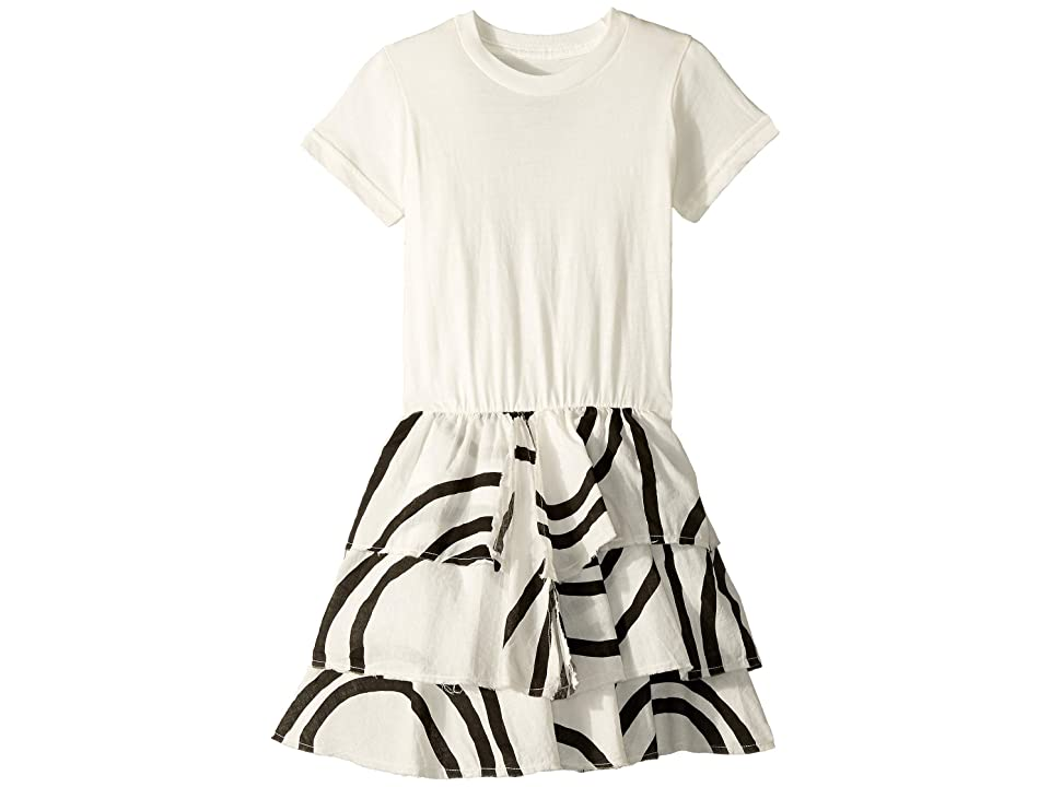 Nununu Layered Circle Dress (Toddler/Little Kids) (White) Girl
