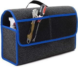 EJP Bags Für New Beetle Kofferraumtasche Organizer Werkzeugtasche Autotasche Tragfähigkeit bis 20 kg in höchster Qualität. Farbe Grau mit blauen Lamellen. Versand ab Sofort.