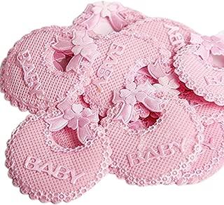 C.X.Y. - Baberos decorativos con lazo, para bomboneras de nacimiento o bautismo, accesorios para cajas o botes, 50 unidades  ROSA