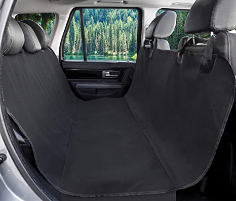 BarksBar Original Pet Seat Cover for Cars - Black, Water Resistant & Hammock Convertible: image