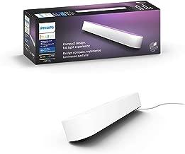 Philips 飞利浦 Hue 白色和彩色气氛灯 Play 可点亮,可调光,高达1600万颜色,可通过应用程序控制,与亚马逊 Alexa 兼容 黑白色 7820331E7