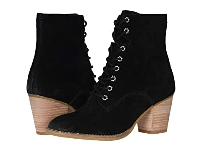 FRYE AND CO. Allister Lace-Up (Black Suede) Women