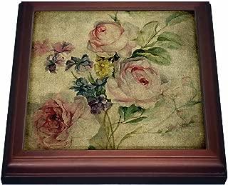 3dRose trv_173503_1 Vintage Florals Grunge