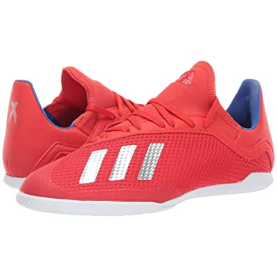 adidas Kids X 18.3 IN Soccer (Little Kid/Big Kid) (Active Red/Silver/Blue) Kids Shoes