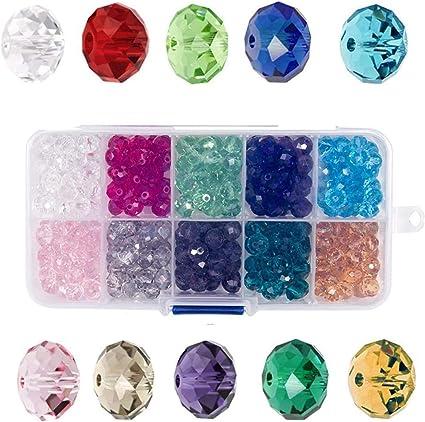 80 runde Glasfacettenperlen 6mm lila Kugel Glasperlen Facettenperlen
