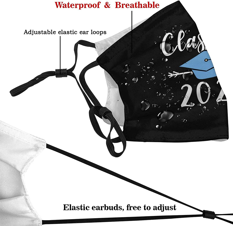 Senior Class of 2022 Print Face Mask Adjustable Ear Loops Unisex Gifts for Men&Women Balaclavas