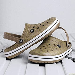 Hole Sandals Men Shoes Literide Crocks crocse Clogs Women Sandalias Zapatos de Hombre Croc Shoes Sandles Sandals Woman Slippers-Khaki_13